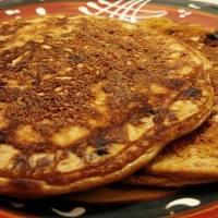 Salted Caramel Chocolate Chip Pancakes
